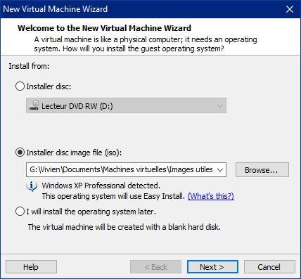 Microsoft Windows XP Out-Of-Box Experience, ne s'affiche pas sous